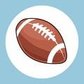 American football ball equipment icon