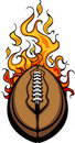 American Football Ball Flaming Cartoon Stock Photos