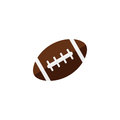 American football ball flat icon, college sport