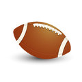 American football ball icon on white background Stock Images