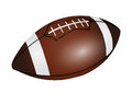 American football ball isolated on a white background Royalty Free Stock Photos