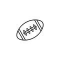 American football ball line icon, college sport