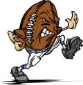 American Football Ball Player Cartoon Royalty Free Stock Images