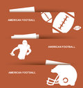 American football banners Royalty Free Stock Images