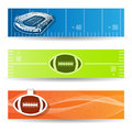 American football banners vector set of Stock Photos