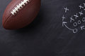 American Football on Chalkboard