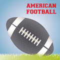 American football design over blue background vector illustration Royalty Free Stock Photo