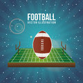 American football design over blue background vector illustration Stock Image