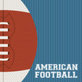 American football design over blue background vector illustration Stock Photography