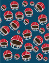 American football design over blue background vector illustration Royalty Free Stock Photography