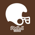 American football design over brown background vector illustration Stock Photo