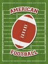 American football design over field background vector illustration Royalty Free Stock Images