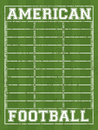 American football design over field background vector illustration Royalty Free Stock Image