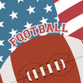 American football design over flag background vector illustration Stock Photos