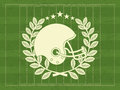 American football design over green background vector illustration Stock Photography