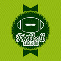 American football design over green background vector illustration Stock Images