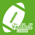 American football design over green background vector illustration Stock Photo