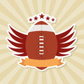 American football design over grunge background vector illustration Royalty Free Stock Photos