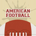 American football design over lineal background vector illustration Royalty Free Stock Photo
