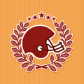 American football design over pink background vector illustration Stock Photography