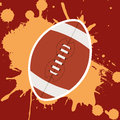 American football design over red background vector illustration Royalty Free Stock Photography