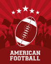 American football design over red background vector illustration Stock Photo