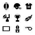 American football design over white background vector illustration Royalty Free Stock Image