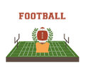 American football design over white background vector illustration Stock Image