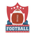 American football design over white background vector illustration Stock Photos
