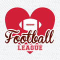 American football design over white background vector illustration Royalty Free Stock Photo