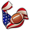 American football emblem Royalty Free Stock Photography