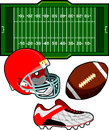 American Football Equipment Stock Photos