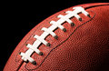 American Football Extreme Close Up Royalty Free Stock Photo