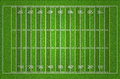 American football field with dark and light grass lines illustration Royalty Free Stock Images