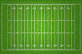 American football field illustration with dark corner Stock Photo