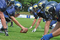 American football game of the beavers biberach training unit with their own team on st jun in biberach Royalty Free Stock Photos