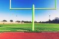 American football goal post Royalty Free Stock Photo