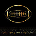 American Football Golden Icon Royalty Free Stock Photo