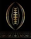 American Football Golden Icon Illustration Royalty Free Stock Photo