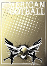 American football golden poster background Stock Photo