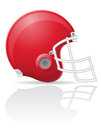American football helment vector illustration on white background Royalty Free Stock Photography