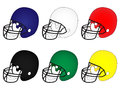 American Football Helmets Stock Images