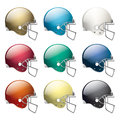 American football helmets a set of in different colors vector eps available eps file contains transparencies basic gradients only Stock Images