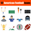 American football icon Royalty Free Stock Photo