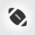 American football icon, flat design Royalty Free Stock Photo