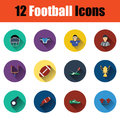 American football icon set Royalty Free Stock Photo