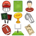 American football icon sport illustration of a set Royalty Free Stock Images