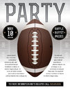 American Football Party Flyer Royalty Free Stock Photo