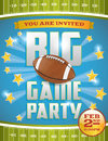 American football party flyer a design perfect for tailgate parties invites etc vector eps file available eps file contains Royalty Free Stock Images