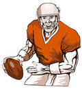 American football pass orange Royalty Free Stock Photos